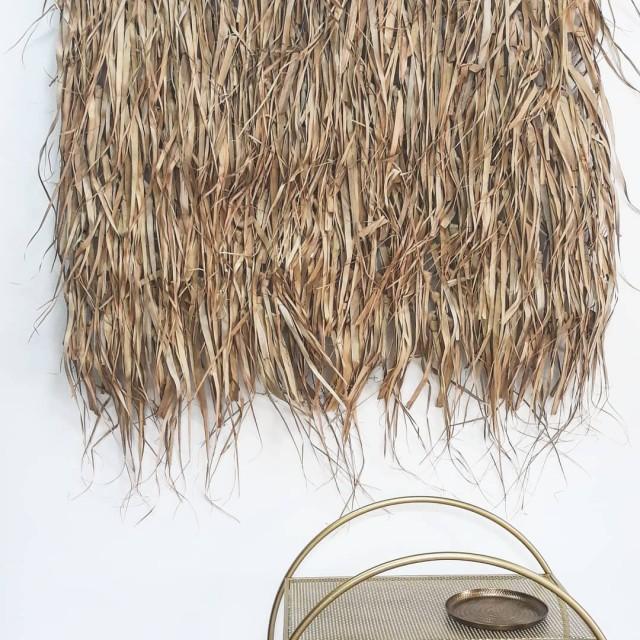 Obešanka zastirka makrame Palm Leaf Art Madam Stoltz, Farbarela