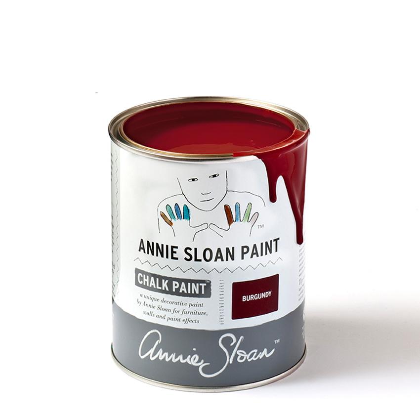 Burgundy Chalk Paint kredna barva Annie Sloan | Farbarela