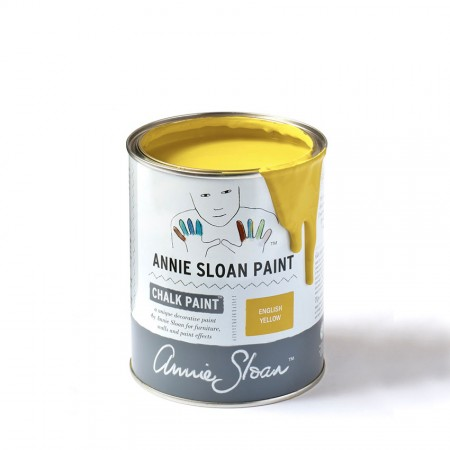 English Yellow Chalk Paint kredna barva Annie Sloan Farbarela