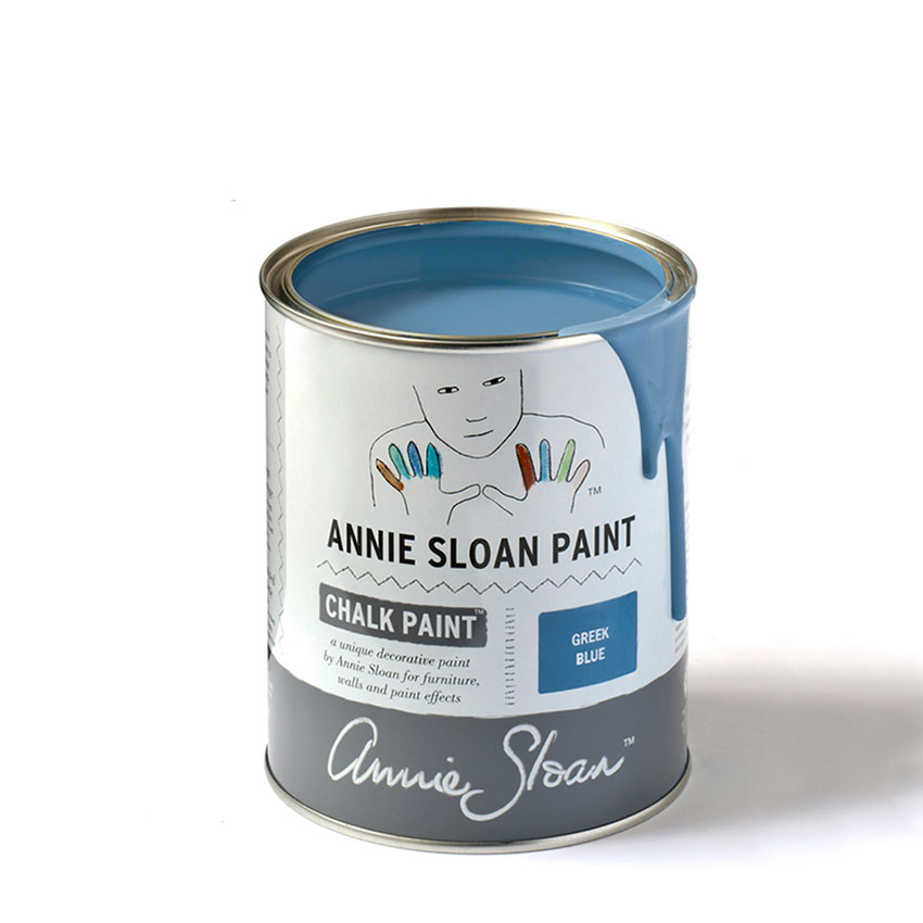 Greek Blue Chalk Paint kredna barva Annie Sloan Farbarela