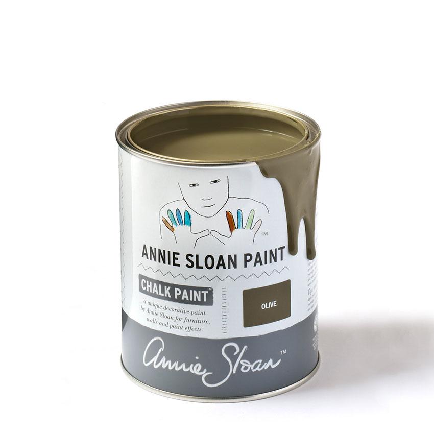 Olive Chalk Paint kredna barva Annie Sloan Farbarela