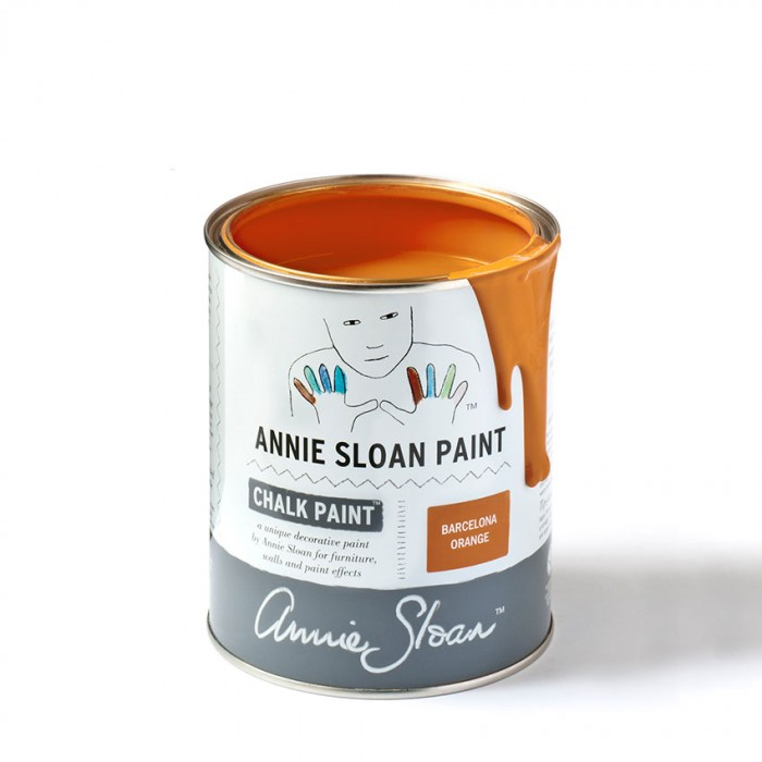 Barcelona Orange Chalk Paint kredna barva Annie Sloan Farbarela