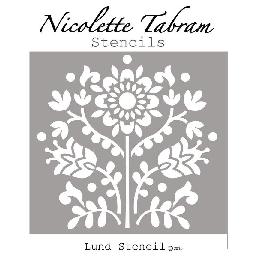 Lund_Stencil šablona Nicolette Tabram Farbarela