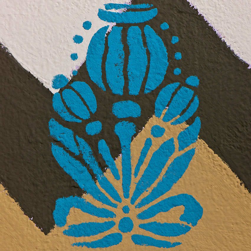šablona Poppy Pod Annie-Sloan-Stencil