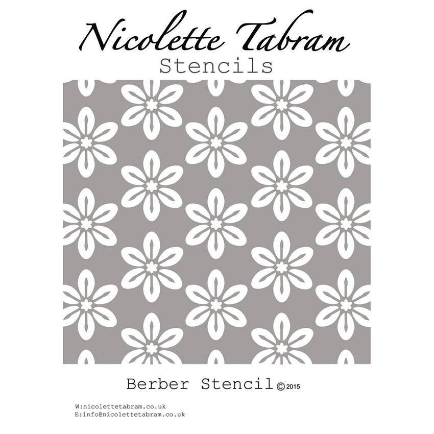 sablona Berber Nicolette Tabram Stencil