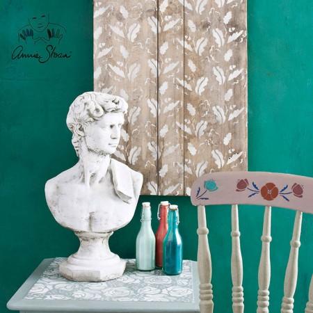 šablona Oak Leaves Annie-Sloan-Stencil