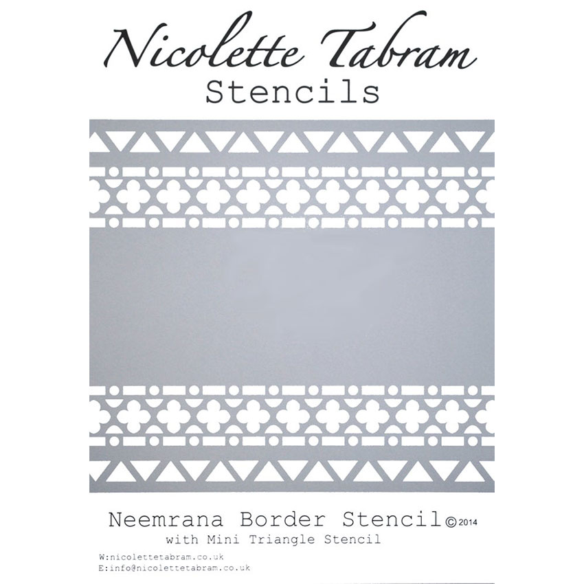 Šablona bordura Neemrana Stencil