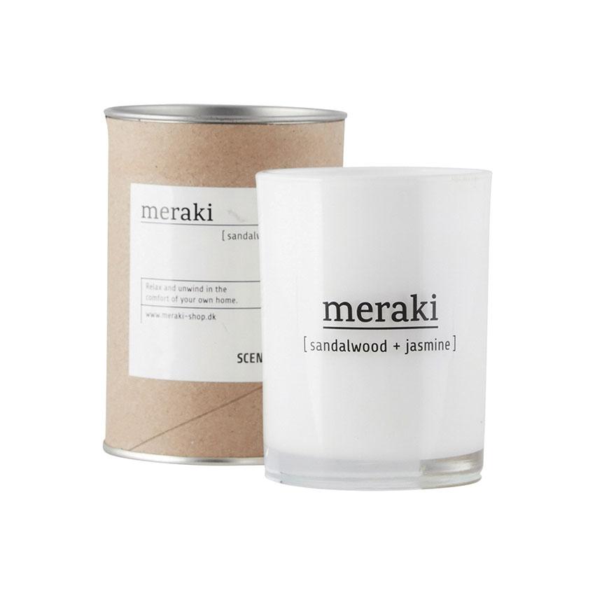 Dišeča sveča Meraki, sandalwood and jasmine