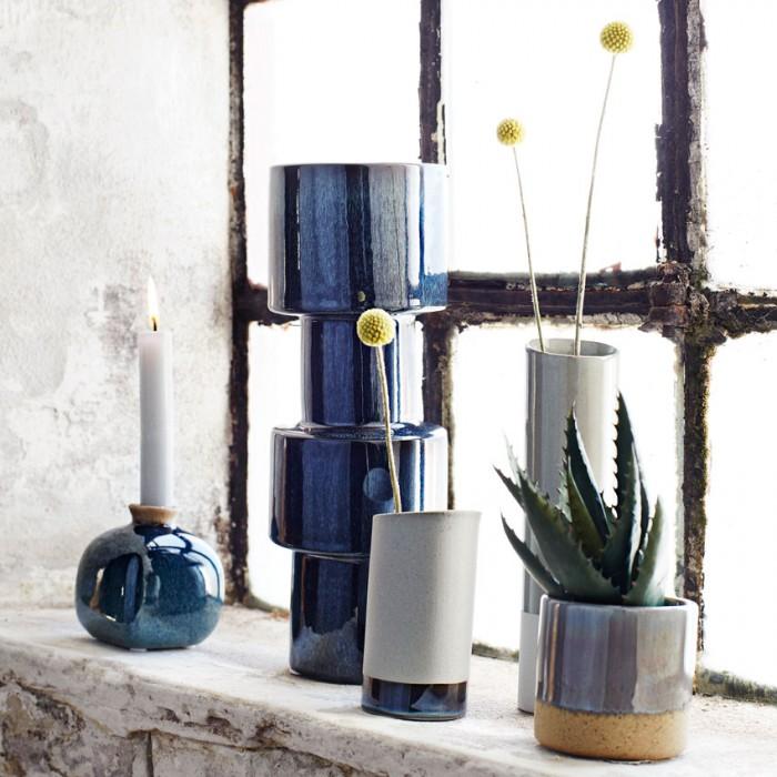Moder svečnik, vaza