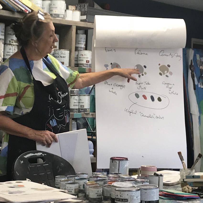 Annie Sloan Workshop delavnica barvanja