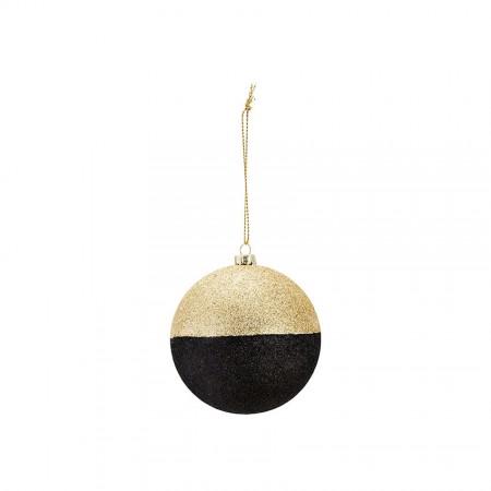 Božični okrasek zlate in črne bleščice