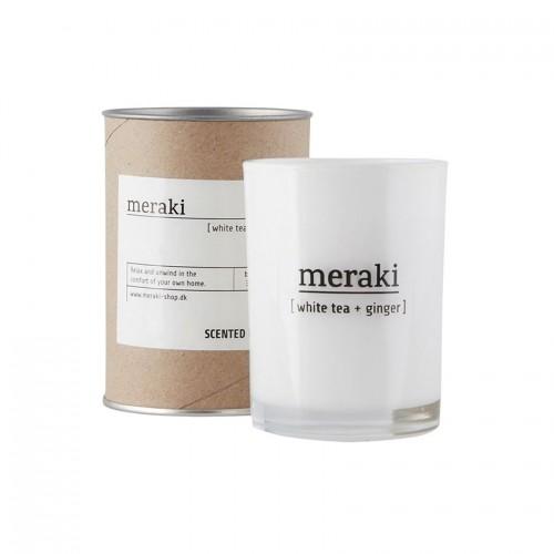 Dišeča sveča Meraki, white-tea and ginger