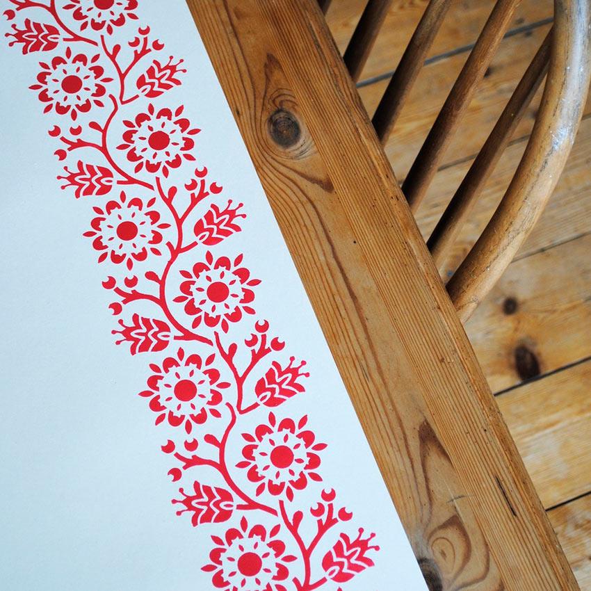 Bergen Stencil Šablona Nicolette Tabram Farbarela