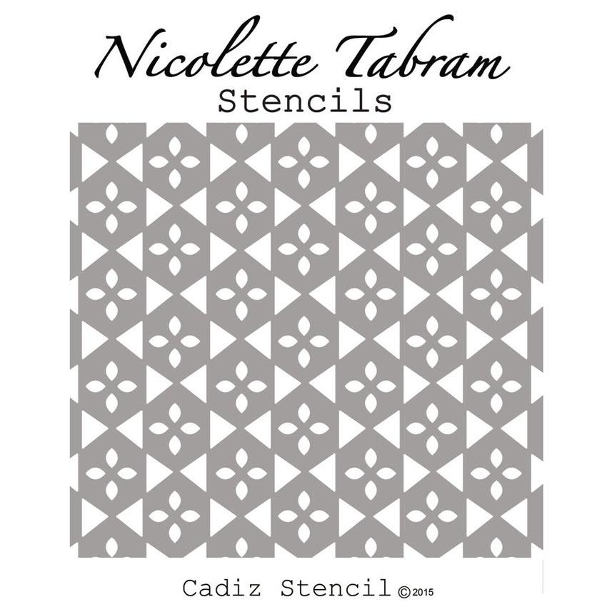 Cadiz_Stencil Šablona Nicolette Tabram Farbarela