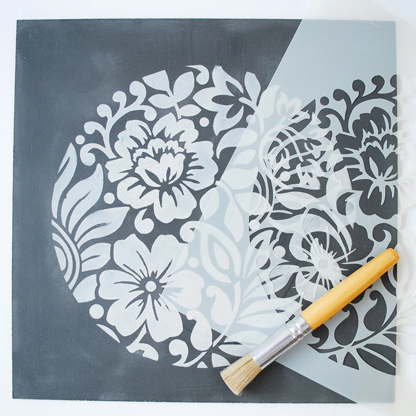 Jodhpur Stencil šablona Nicolette Tabram Farbarela