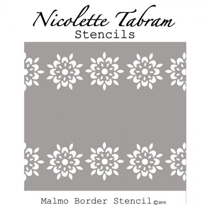 Malmo Stencil šablona Nicolette Tabram Farbarela
