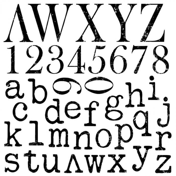 Set štampiljk Typesetting
