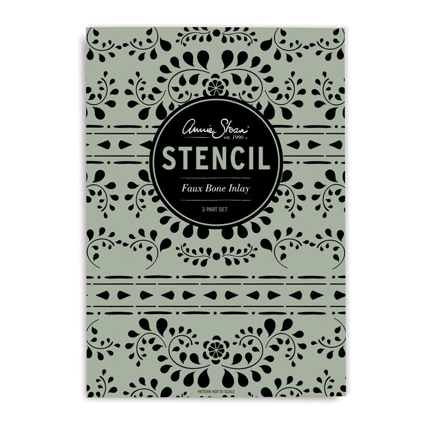 šablona Faux Bone Inlay Annie-Sloan-Stencil