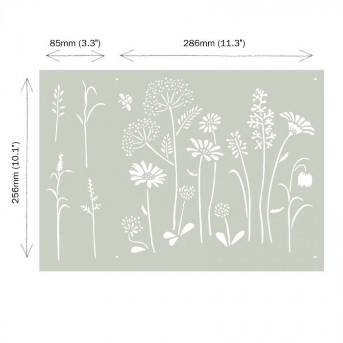 šablona Meadow Flowers Annie-Sloan-Stencil