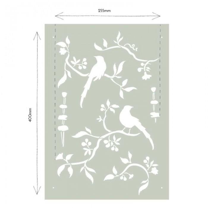 Chinoiserie-Birds-Stencil-Sablona-Farbarela