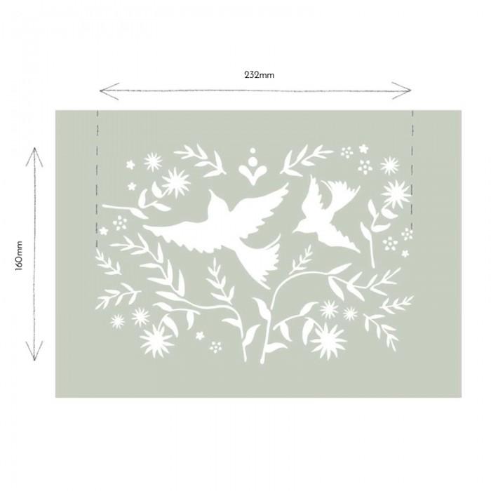 Mexican-Birds-Stencil-Sablona-Farbarela